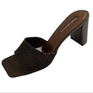 Enzo Angiolini Brown Square Toed Sandals Size 10M